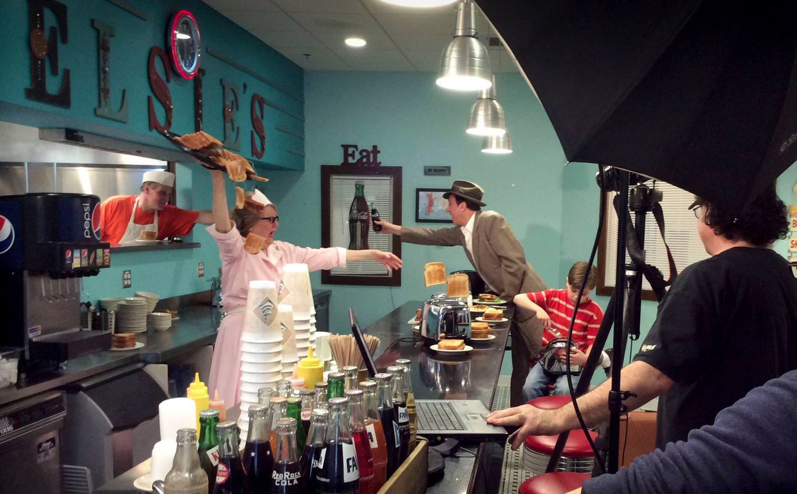 Photographer Mike Ricciardi at work during a taping of Arts & Culture Shorts