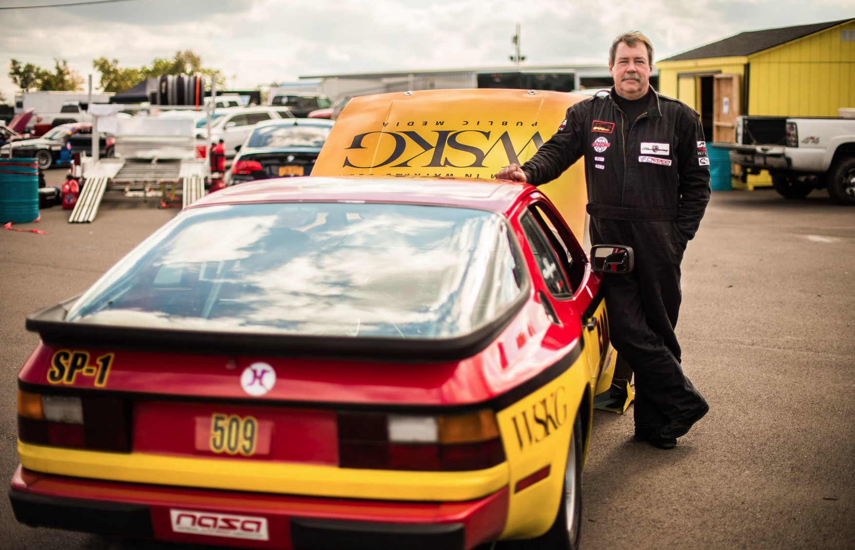 Brian Watson shows his love for WSKG with a customized racecar