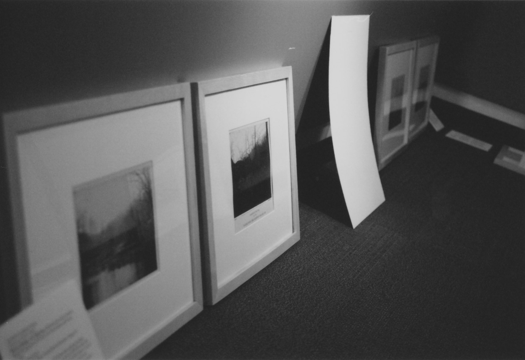 Photographs against the wall