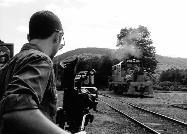 A student intern films for a WSKG original production