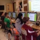 teens in classroom at computers