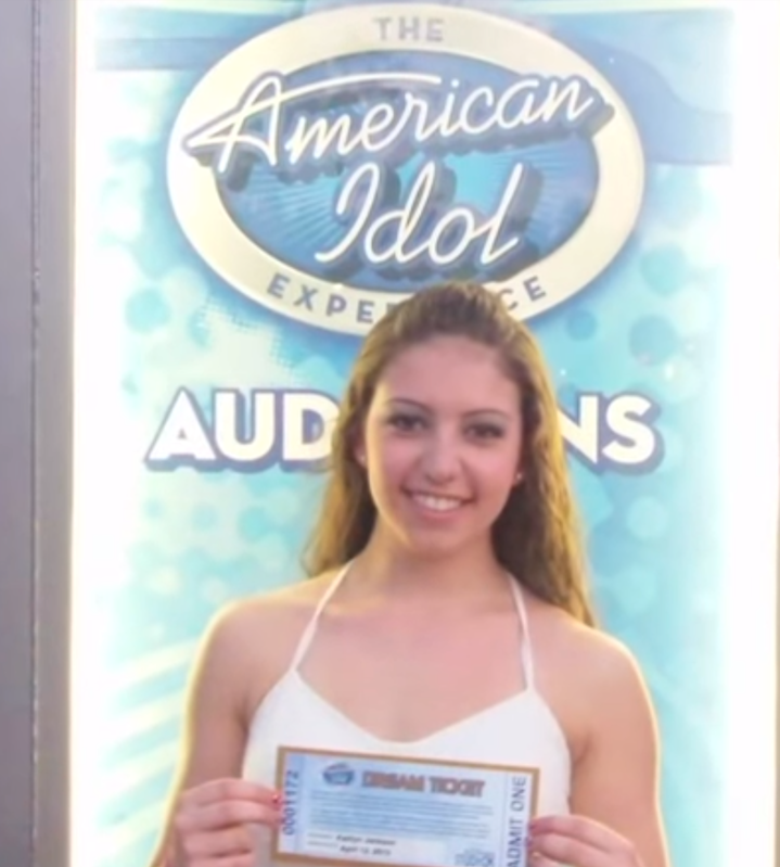 Kaitlyn jackson holds her dream ticket to Hollywood