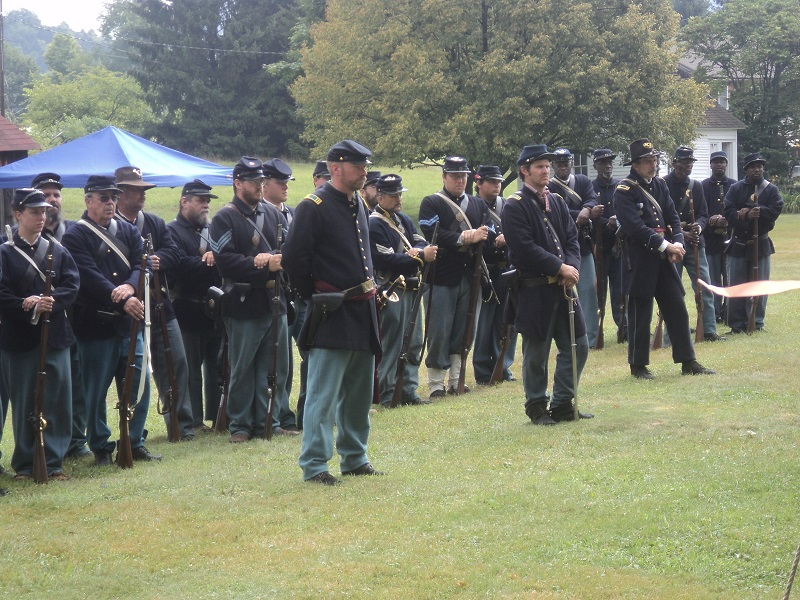 The 144th NY at the 2014 Civil War Reenactment hosted by the Delaware County Historical Association