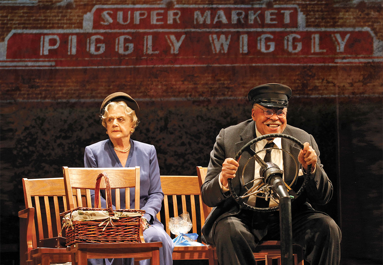 """Angela Lansbury and James Earl Jones in """"Great Performances: Driving Miss Daisy."""""""