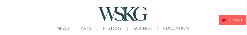 Header and Navigation on the new WSKG.org