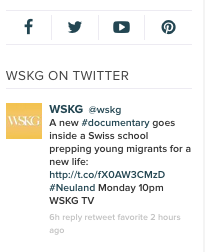 Social Central on the new WSKG.org
