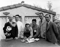 Walt Disney (third from left) and his brother Roy (far right), ca. 1932
