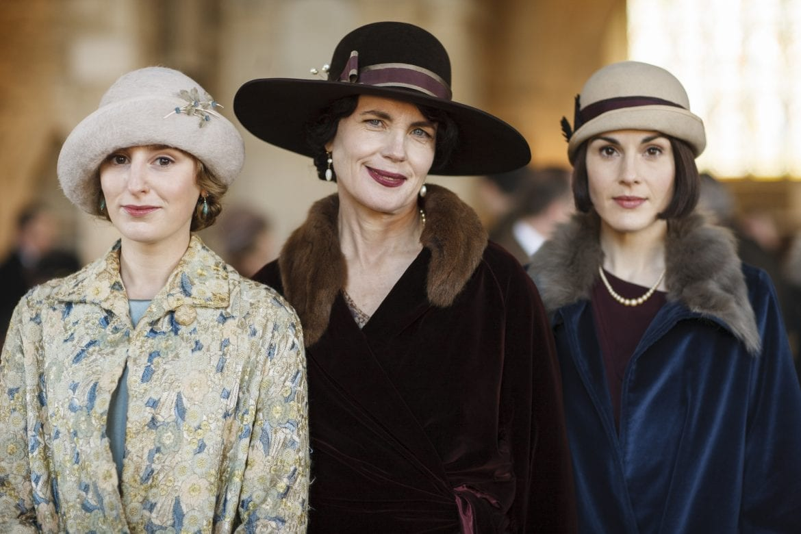 Downton Abbey Season 6 LAURA CARMICHAEL as Lady Edith Crawley, ELIZABETH MCGOVERN as Cora, Countess of Grantham and MICHELLE DOCKERY as Lady Mary Crawley