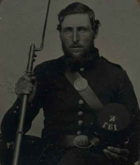 Charles Hallett of Company K, 137th New York Infantry Regiment
