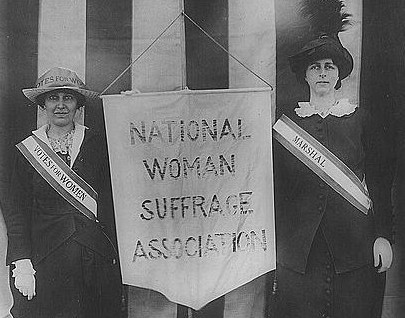 Suffragists Mrs. Stanley McCormick and Mrs. Charles Parker, April 22, 1913