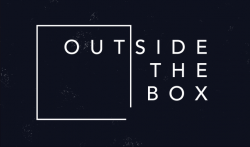 outside the box series logo with square