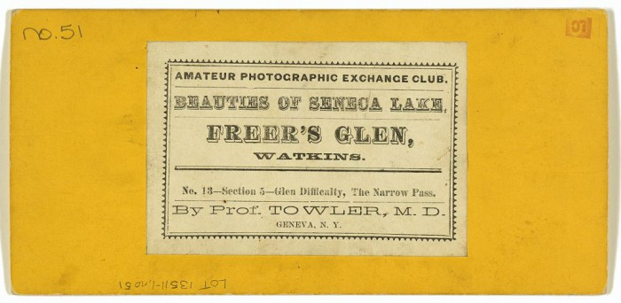Back of Freer's Glen Photograph