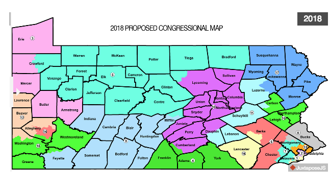 Wolf rejects GOP redraft of Congressional districts map