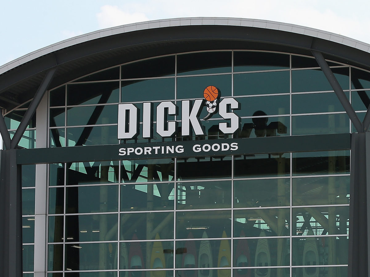 Customers shop at a Dick's Sporting Goods store in Niles, Ill., in 2014. The sports retailer CEO Ed Stack announced Dick's is immediately ending its sales of assault-style rifles and requiring all customers to be older than 21 to buy a firearm at its stores.