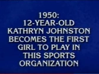 Little League trailblazer Kay Johnston Massar scores one of life's truly rare honors: being an answer on Jeopardy!