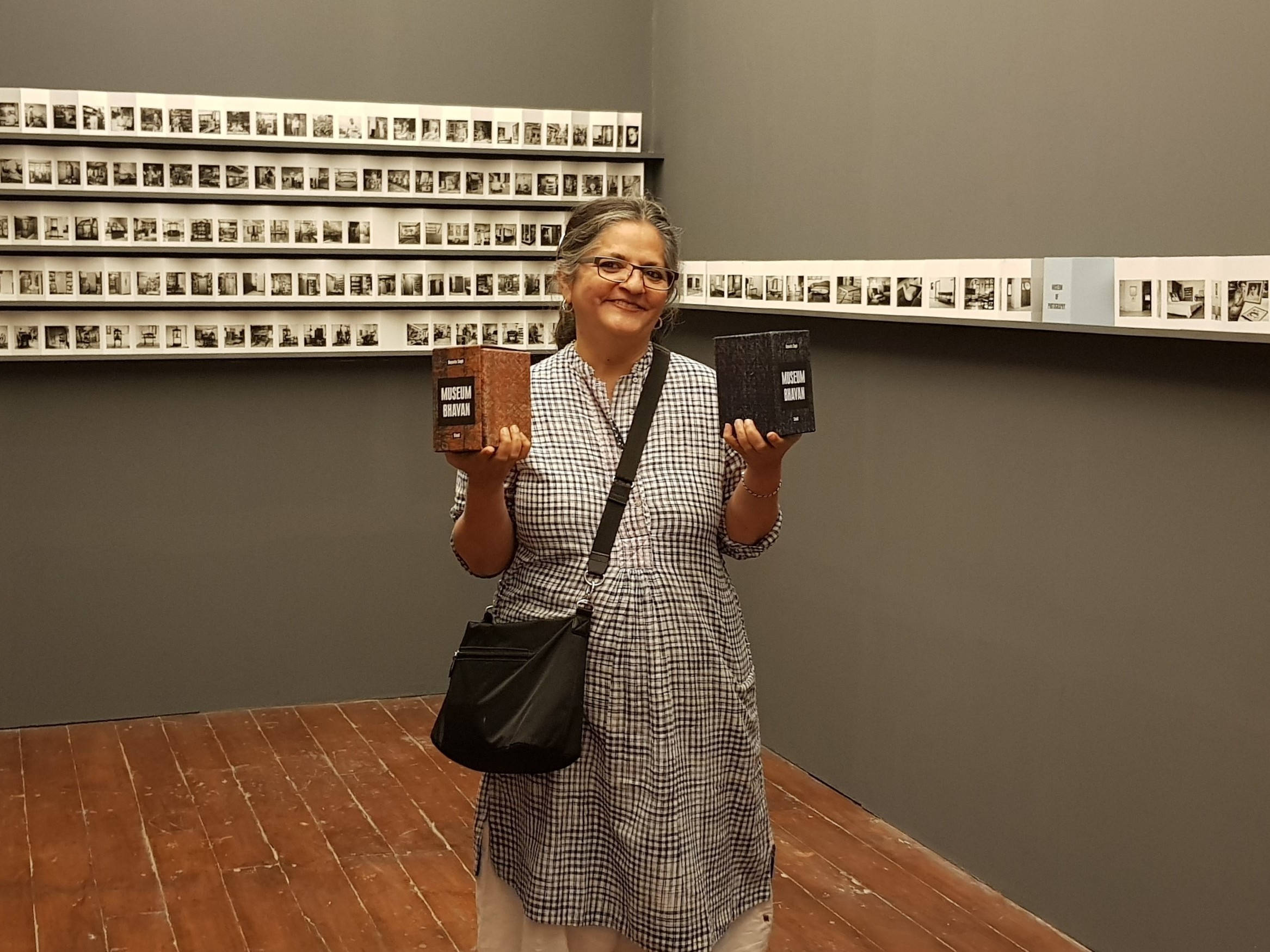 Singh presents her Museum Bhavan books at the 2017 Serendipity Arts Festival in Goa, India.