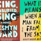 Aspen finalists: Sing, Unburied, Sing by Jesmyn Ward; What It Means When a Man Falls from the Sky by Lesley Nneka Arimah; Exit West by Mohsin Hamid; Mad Country by Samrat Upadhyay; What We Lose by Zinzi Clemmons