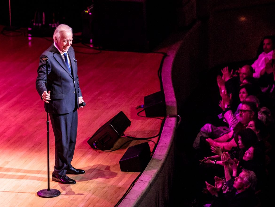 Carlos do Carmo performs in New York for the first time at Town Hall NYC on April 7, 2018 as part of Fado Festival New York.