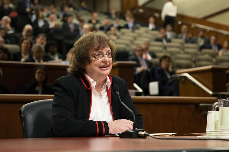 Acting Attorney general Barbara Underwood speaks before a panel of state legislators Tuesday NYS ATTORNEY GENERAL'S OFFICE  FLICKR