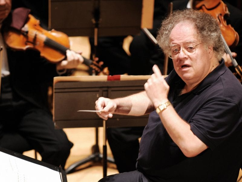 James Levine, rehearsing with the Boston Symphony Orchestra in Paris in 2007.