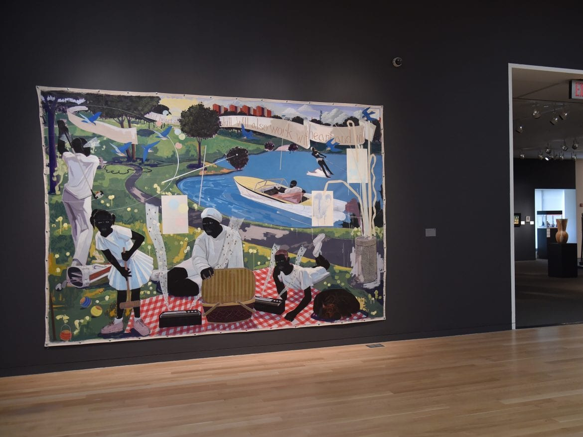 Past Times by Kerry James Marshall at Sotheby's. It sold for $21.1 million, a record auction price for a living African American artist, this week.