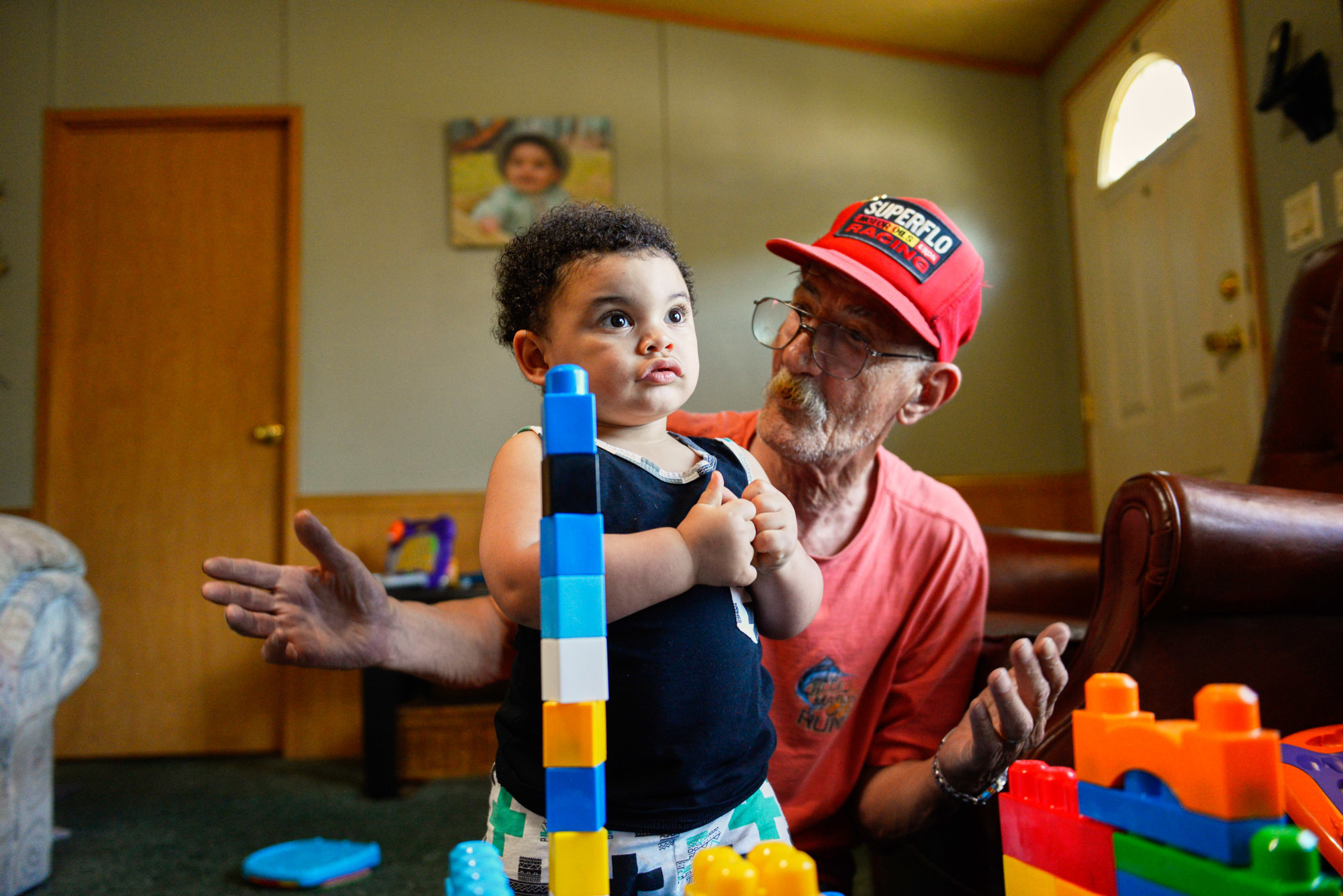 Jack Zimmerman (right) has been a key player in his daughter, Kelly's recovery, driving her to all her appointments and helping her take care of her young son Jaxton (left).