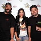 The hosts of Hot 97's Ebro in the Morning (left to right: Ebro Darden, Laura Stylez, Peter Rosenberg) in New York in 2015.