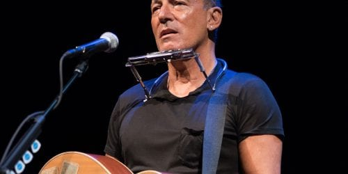 "Bruce Springsteen, performing in ""Springsteen on Broadway"" in an undated photo."