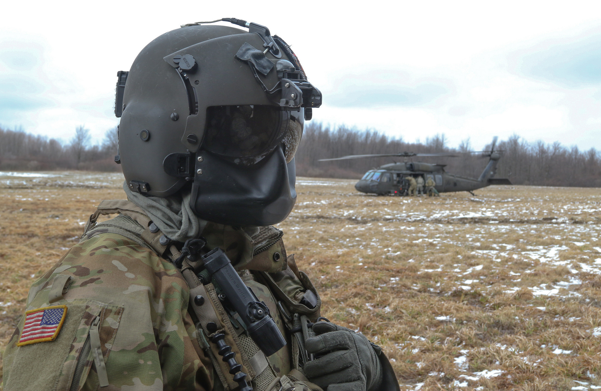 During training exercises near Ft. Drum, N.Y., pilots and crews flew about 50 feet above the ground to evade radar and minimize air defense threats.