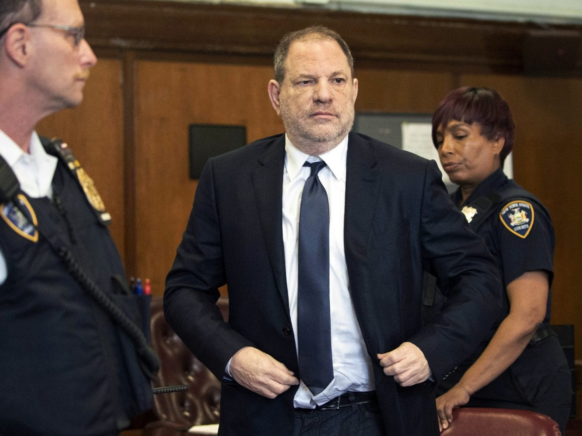 Harvey Weinstein at a court appearance last month in New York. Already facing first-degree rape and other charges involving incidents with two women, he has now been charged with allegedly committing a forcible sexual act against a third.