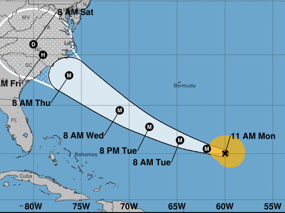 Hurricane Florence is expected to hit the Southeastern U.S. coast as a major hurricane on Thursday or Friday, after rapidly intensifying.