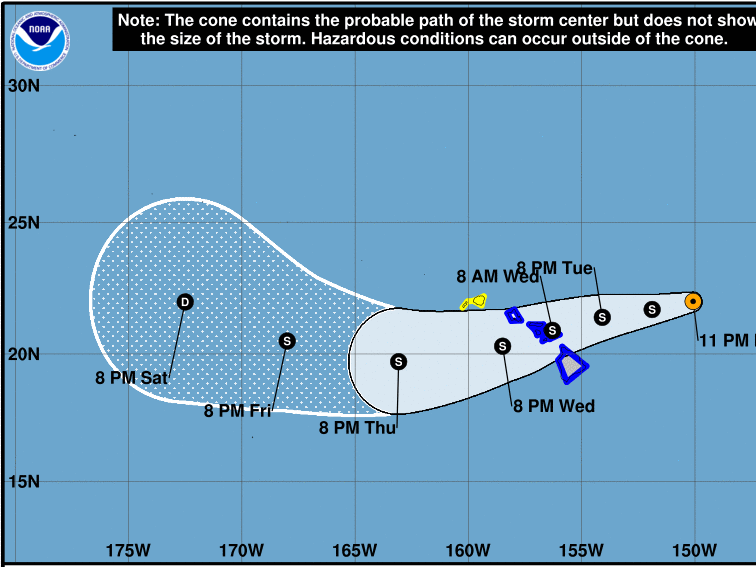 Hurricane Olivia has triggered tropical storm warnings in Hawaii, where it is likely to make landfall by Tuesday or Wednesday, forecasters say.