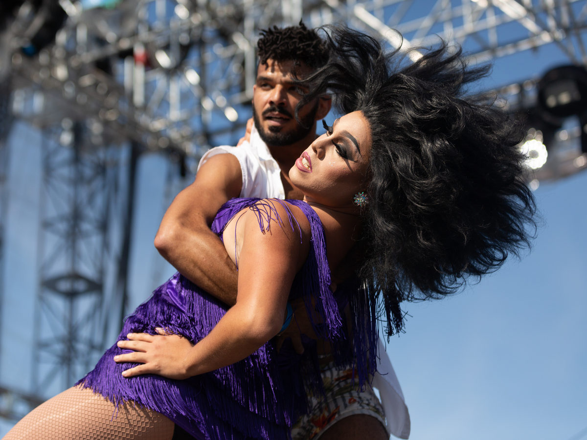 Though it was Pixie Aventura's first time at Wigstock, she has been doing drag since 2005. She said she was the only queen to perform a Latin number at the festival.
