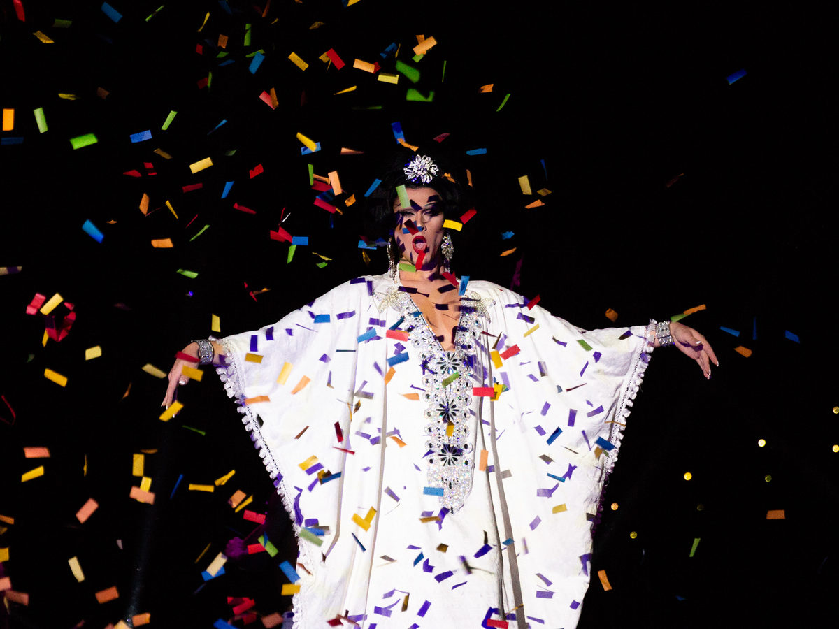 """Scarlet Envy performs for a crowd at the end of the night. """"Wigstock is something that is uniquely New York,"""" Lady Bunny said. """"And I would love to try to keep it going."""""""