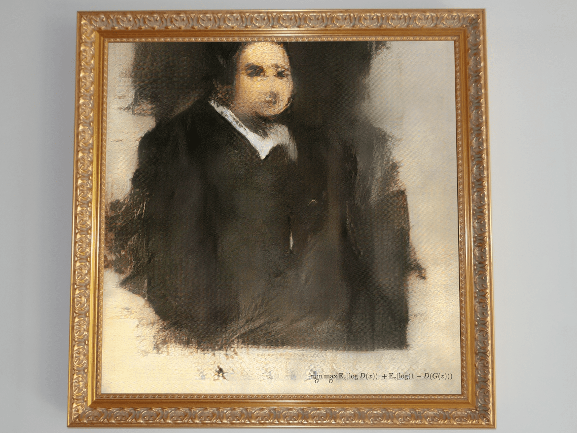 Edmond de Belamy, created using artificial intelligence, will be auctioned at Christie's on Thursday.