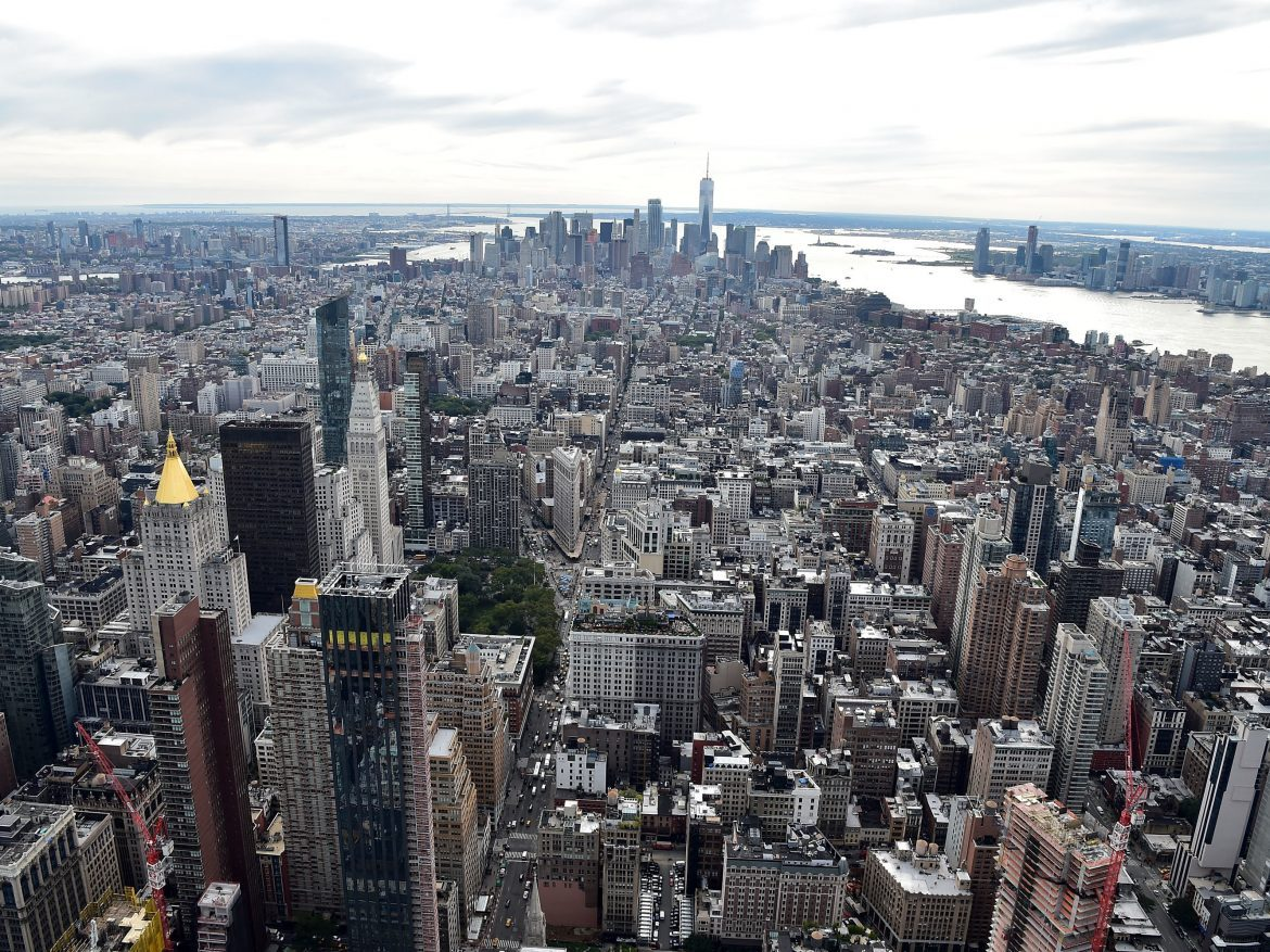 A view of New York City from the Empire State Building on Tuesday. The city just had its first weekend without a single shooting in at least 25 years.