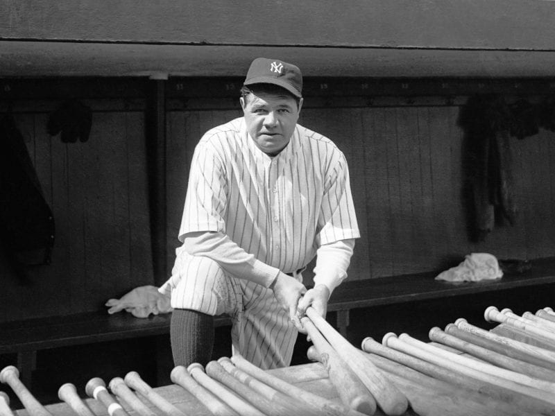 Babe Ruth at Yankee Stadium.