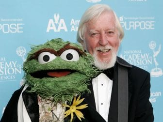 Caroll Spinney and Oscar the Grouch at the Daytime Emmy Awards in 2007. After some 50 years on Sesame Street, Spinney is retiring.