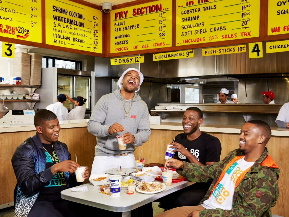 "The Ghetto Gastro collective (Jon Gray, Lester Walker, Pierre Serrao and Malcolm Livingston II) is a self-described ""black power kitchen"" in The Bronx."