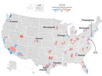 Suburban counties in 2018 House election