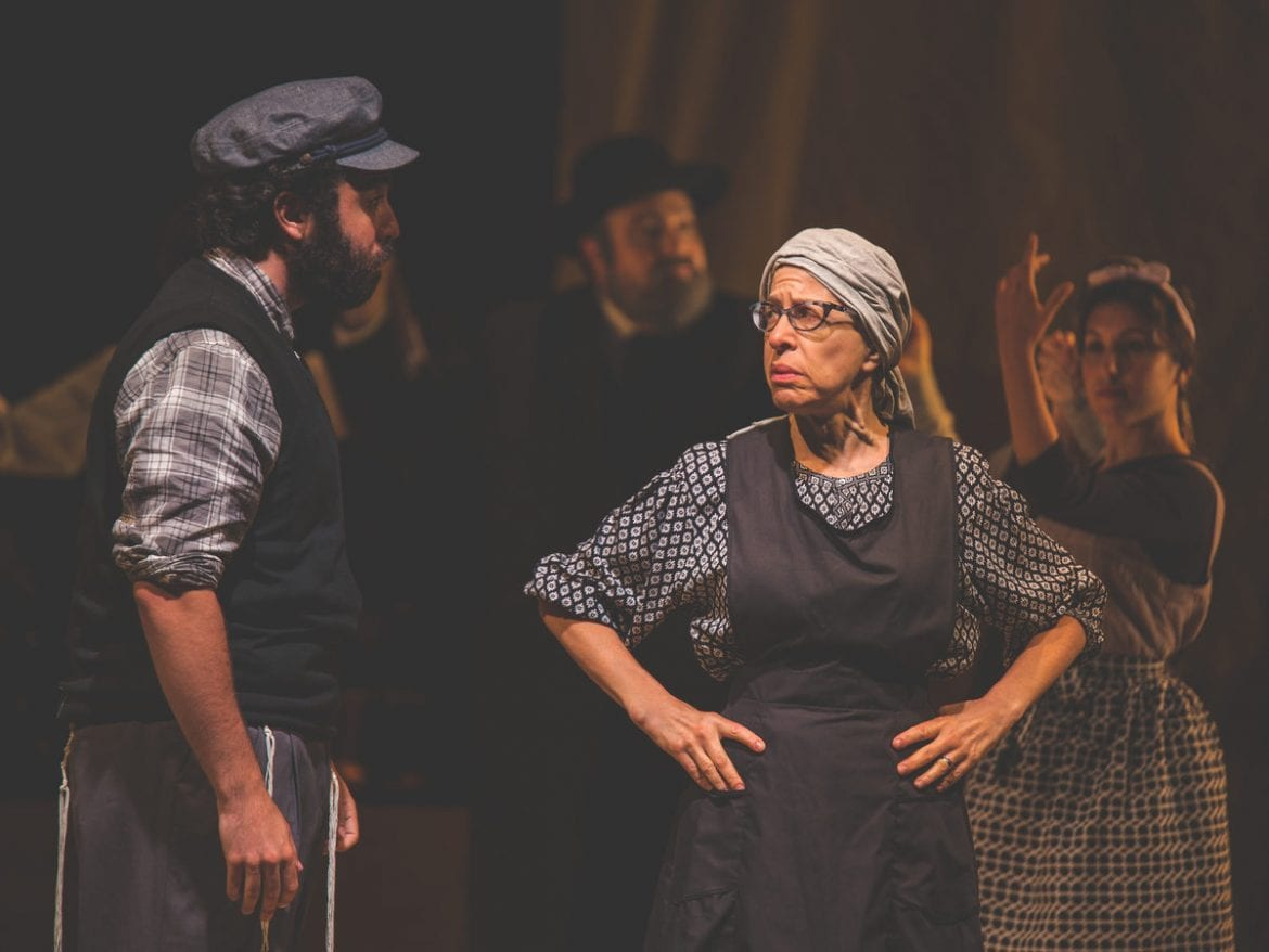 "Jackie Hoffman (right) plays Yente the matchmaker in the Yiddish adaptation of Fiddler. Hoffman grew up hearing her mother and grandmother speak Yiddish and for years has been teaching little phrases to fellow cast members. ""I've got gentiles speaking Yiddish all over this town now,"" she says."