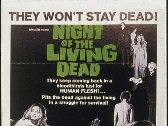 Movie poster for 'Night of the Living Dead,' directed by George Romero, 1968.