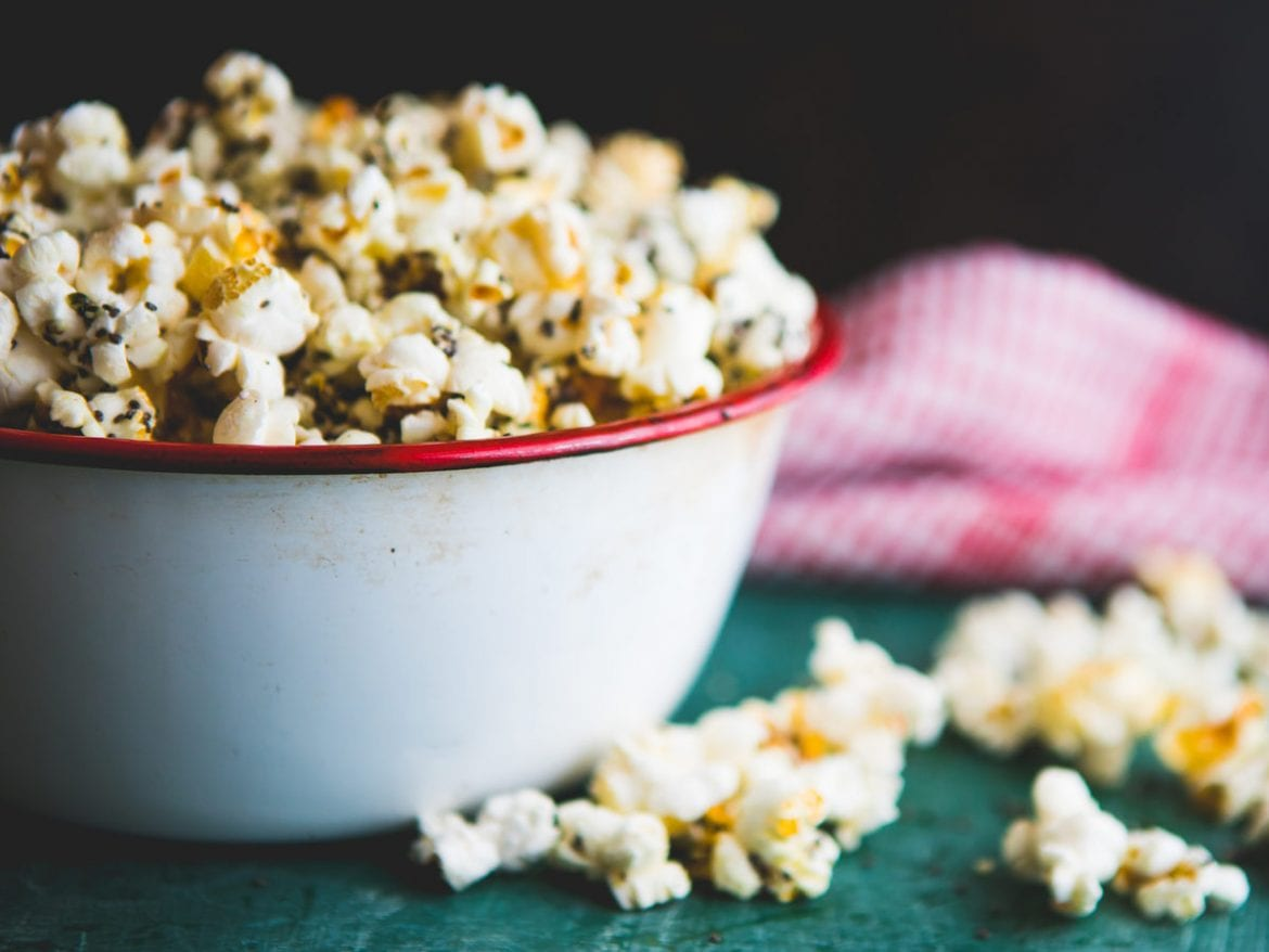 There is a whole subset of people who can't imagine popcorn without a sprinkling of nutritional yeast, which is naturally full of B vitamins that are harder to come by in meat-free diets.