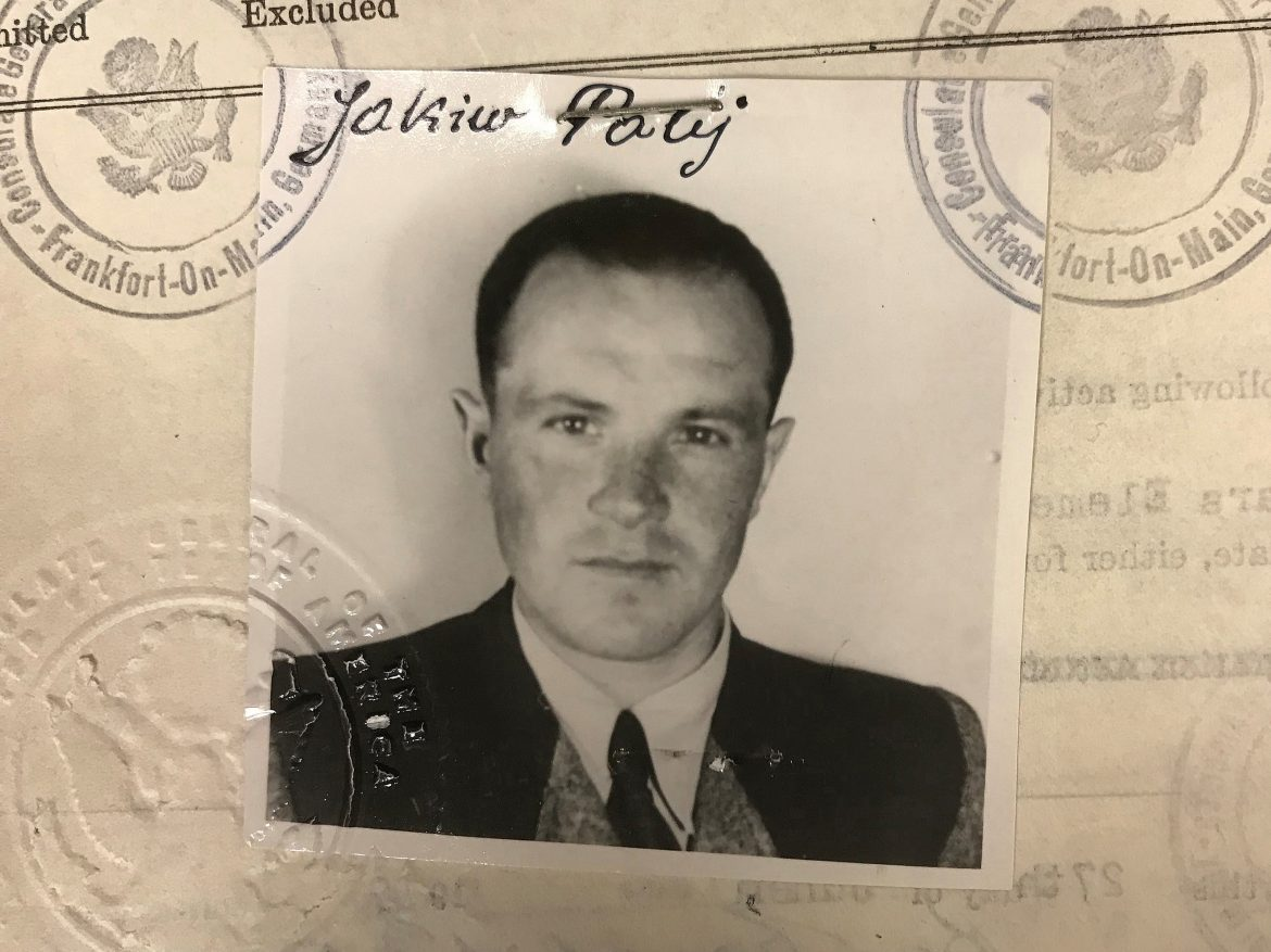 This 1949 photo provided by the U.S. Department of Justice shows a U.S. visa photo of Jakiw Palij, a former Nazi concentration camp guard who has been living in the Queens borough of New York. Palij died this week at the age of 95, German media report.