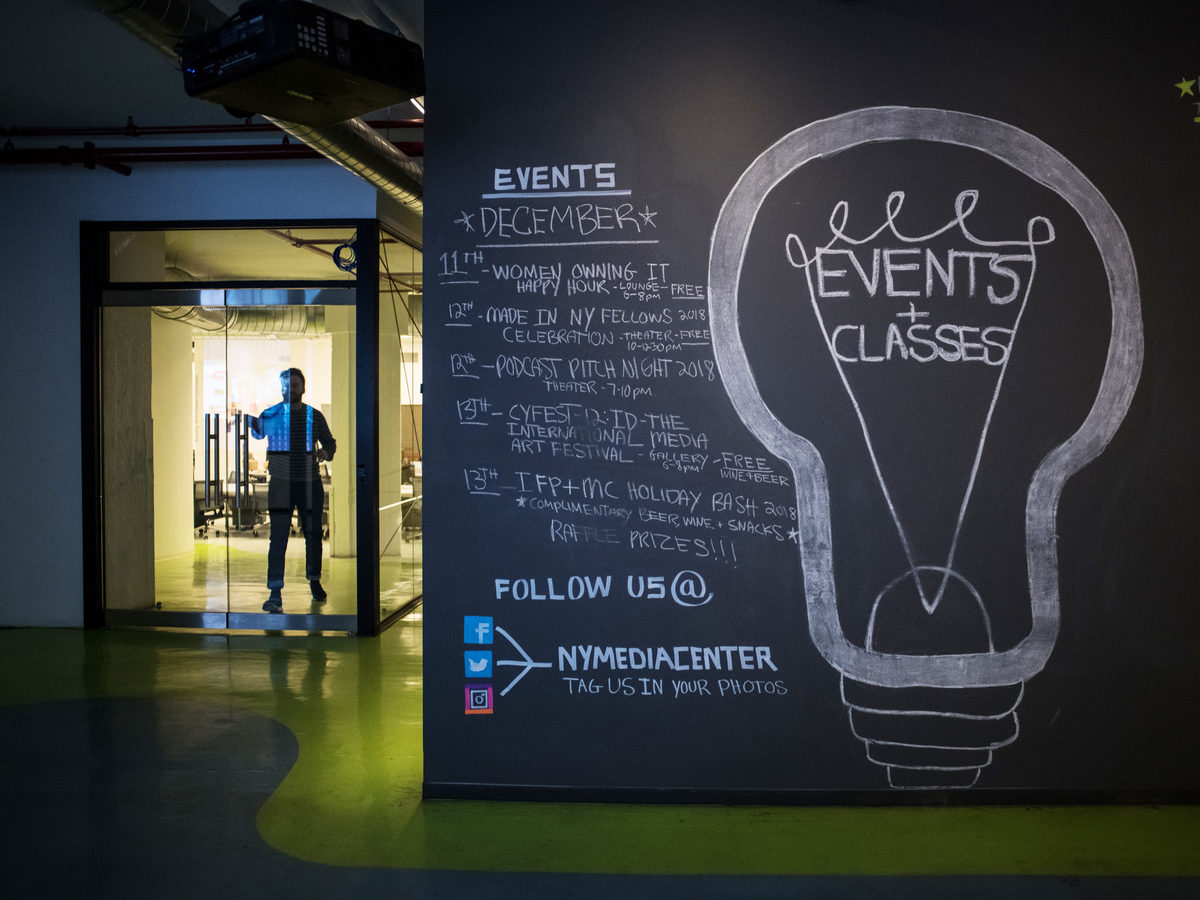 A list of events inside the Freelancer's Hub.