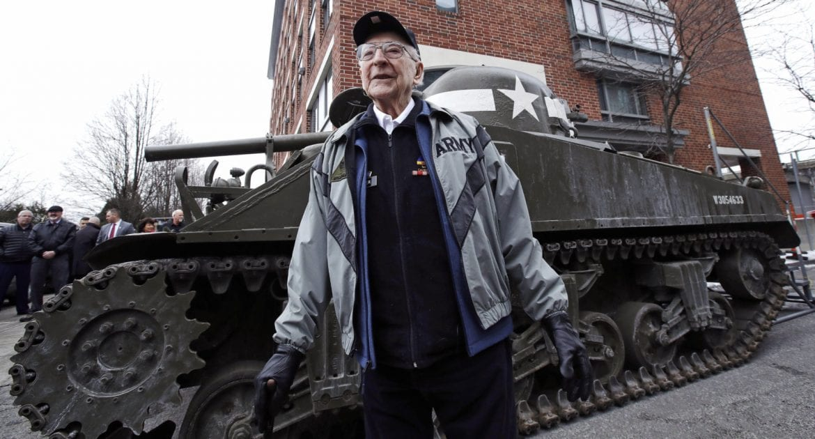 95-Year-Old WWII Veteran Gets Surprise Visit From An 'Old Friend': A Sherman Tank