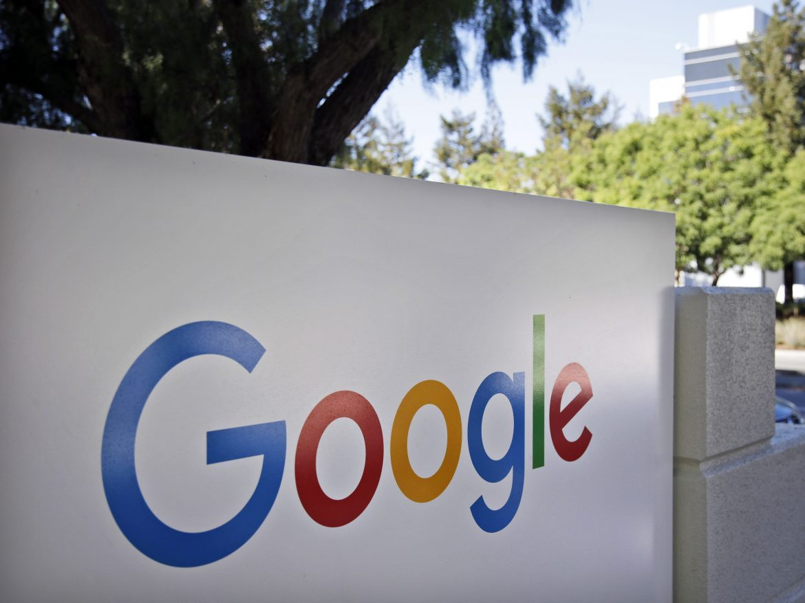 A sign outside Google headquarters in Mountain View, Calif. The tech giant is planning to build a campus in San Jose, Calif.
