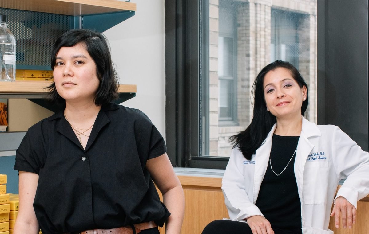 Their research is still in early stages, but Kristin Myers (left), a mechanical engineer, and Dr. Joy Vink, an OB-GYN, both at Columbia University, have already learned that cervical tissue is a more complicated mix of material than doctors ever realized.
