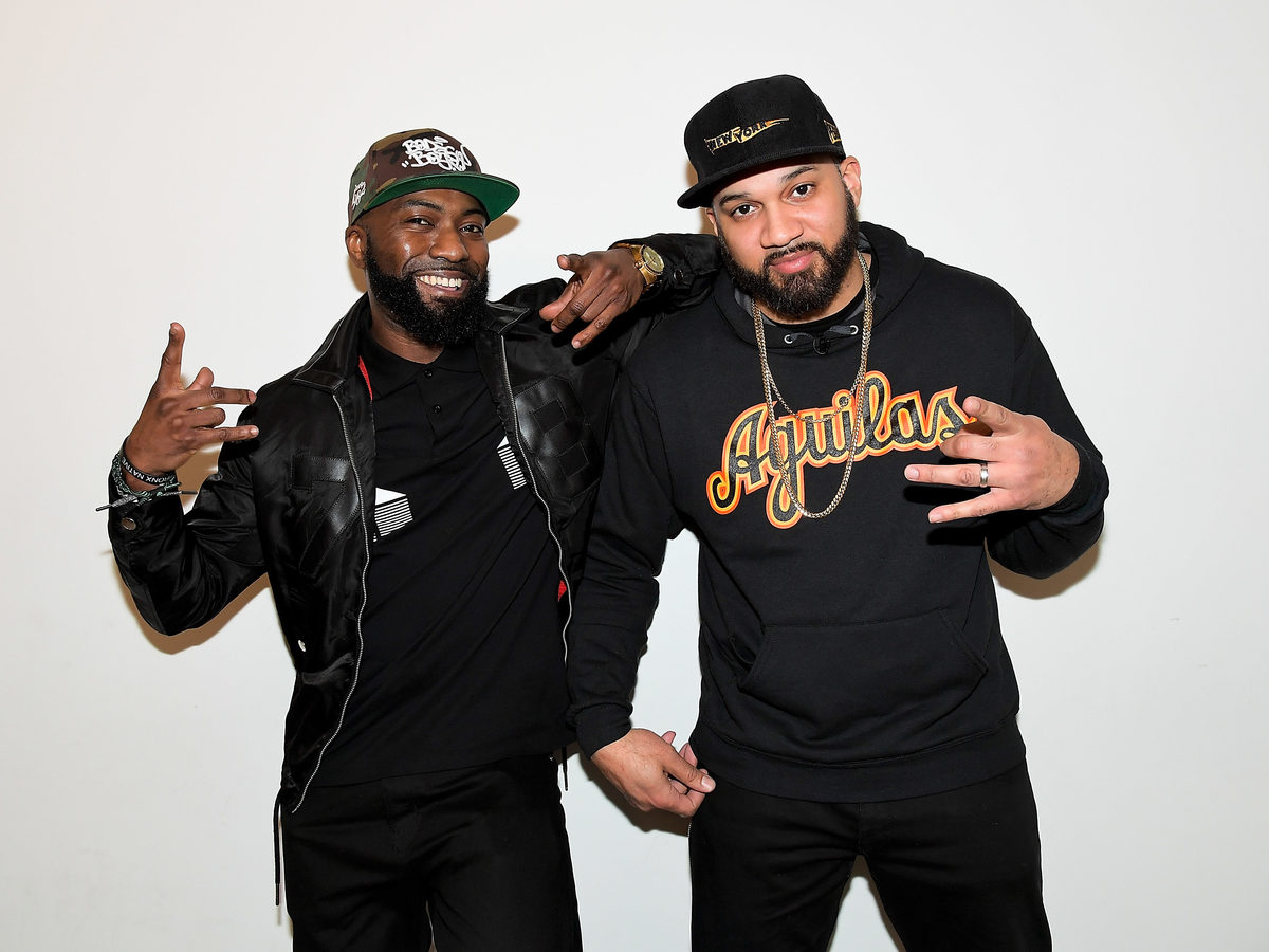 Desus Nice, left, and The Kid Mero attend the FYC Event for VICELAND's Desus & Mero at the Saban Media Center on April 20, 2018 in North Hollywood, Calif. The duo has launched a new program on Showtime.