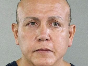 A judge in New York on Tuesday ordered Cesar Sayoc held on mail-bomb charges. He is seen in an undated booking photo.
